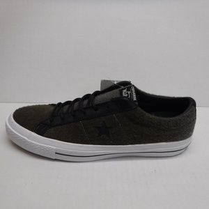 baf22382a491 Converse Woolrich Size 10 Gray Wool Sneakers New